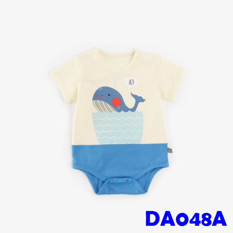 (DA048A) Baby Rompers - Whale
