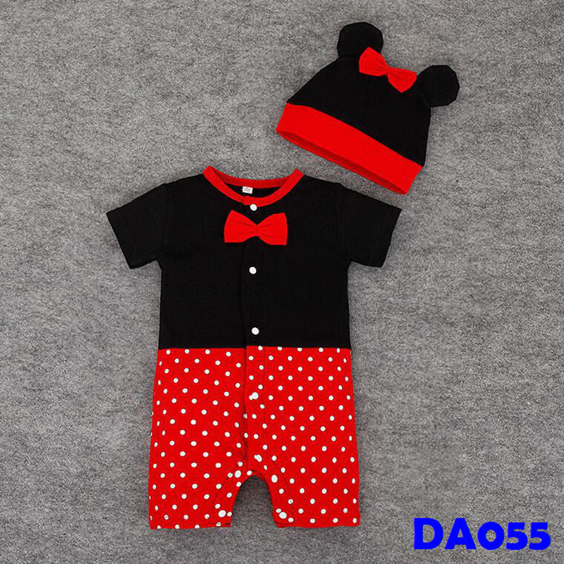 (DA055) Baby Rompers - Minnie With Hat