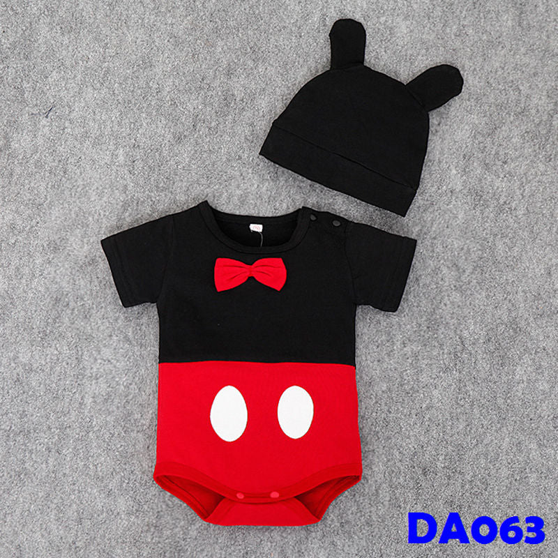 (DA063) Baby Rompers - Mickey with Hat