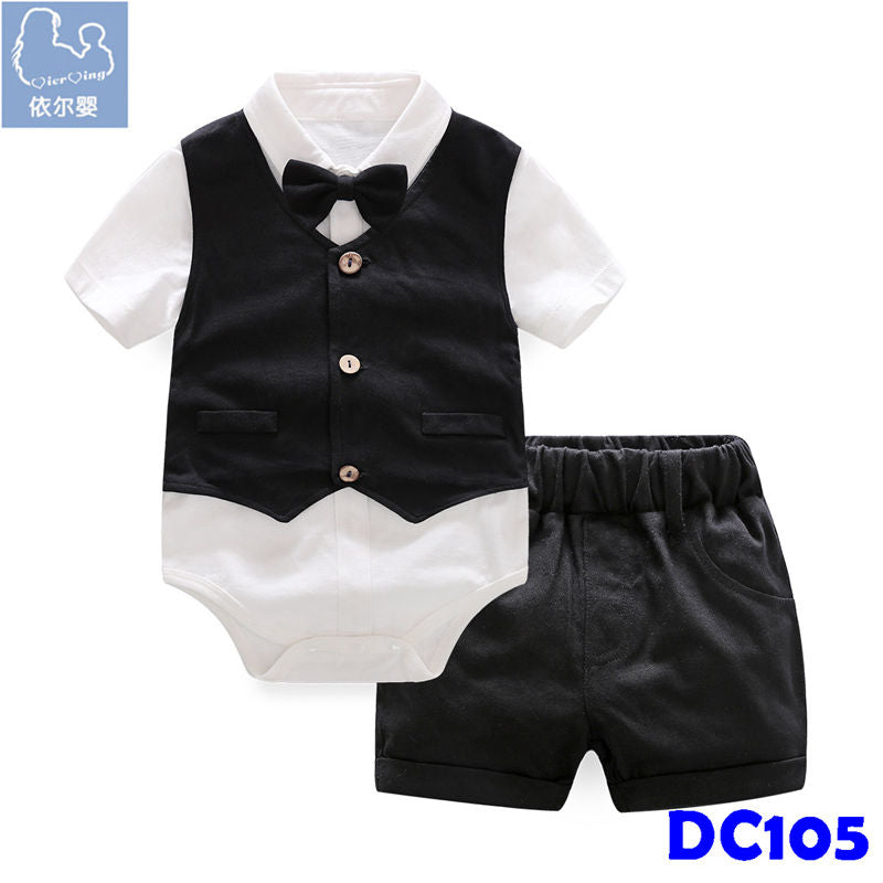 (DC105) Gentleman Romper - Black