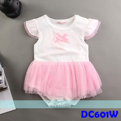 (DC601W) Princess Romper - Angel Wings (White)
