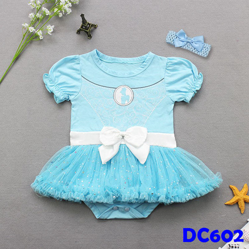 (DC602) Princess Romper - Blue