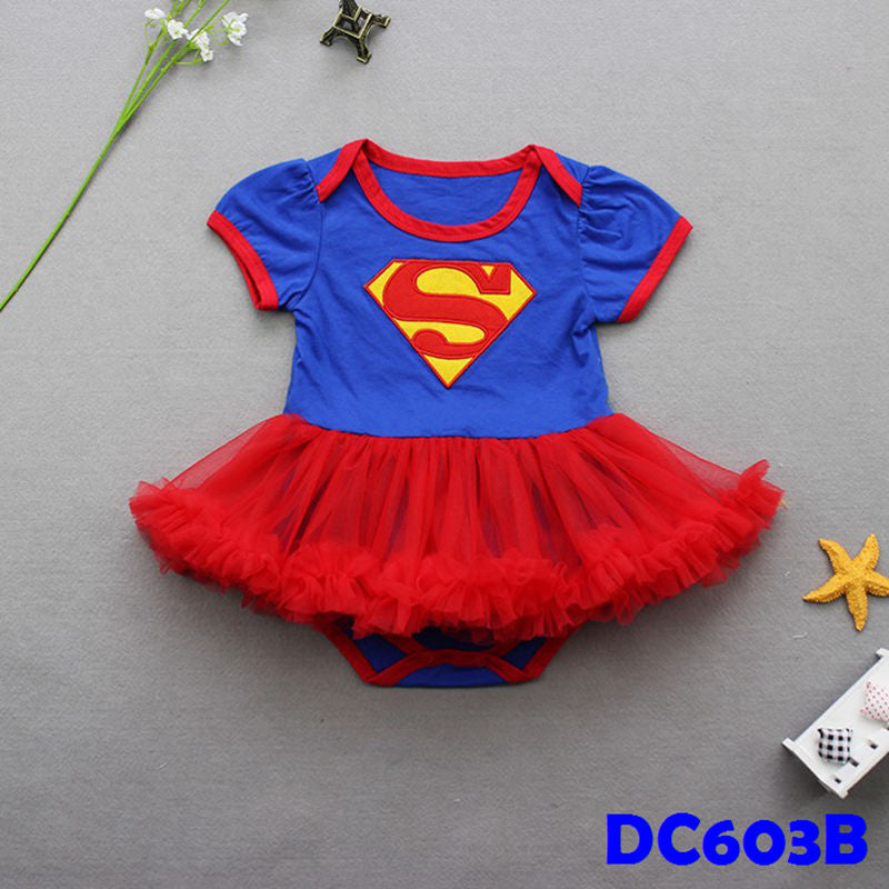 (DC603B) Princess Romper - Supergirl (Blue)