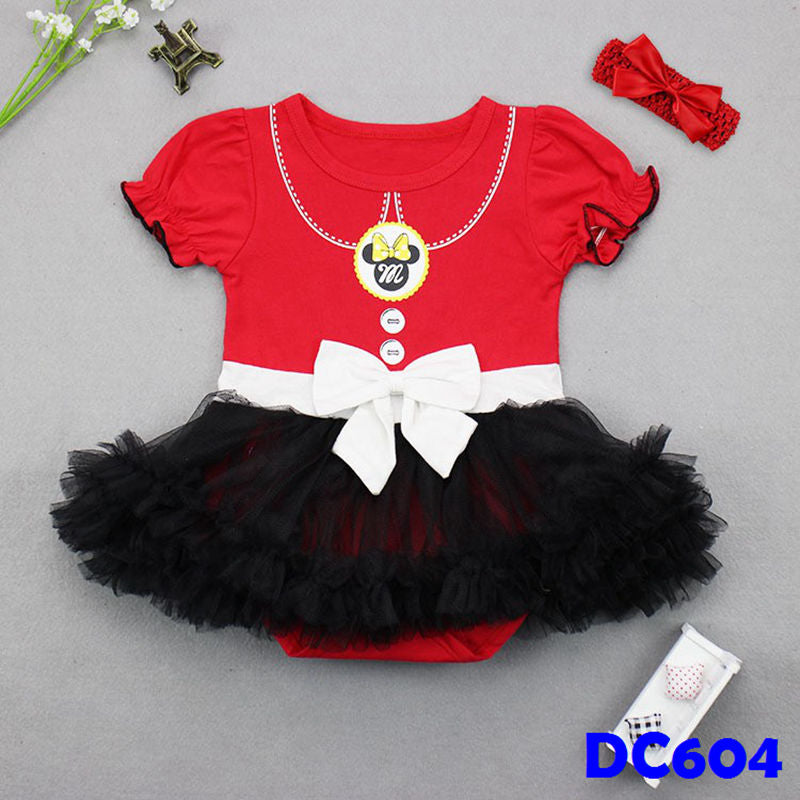 (DC604) Princess Romper - Minnie (Red)