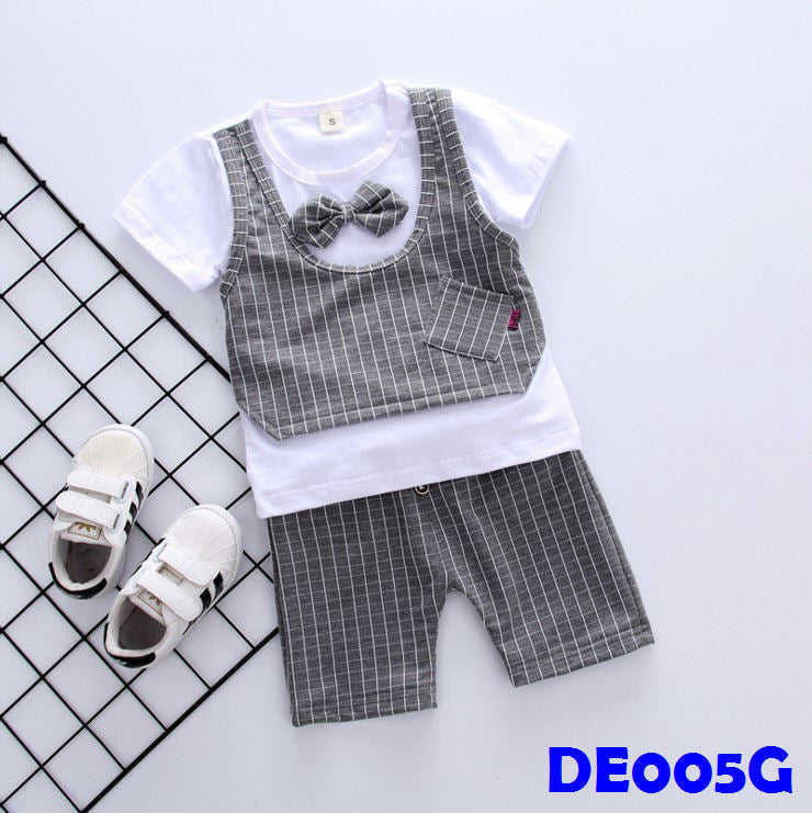 (DE005G) Boy Set - Grey