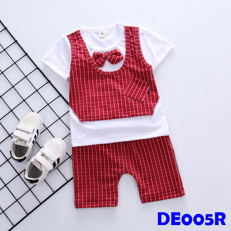 (DE005R) Boy Set - Red