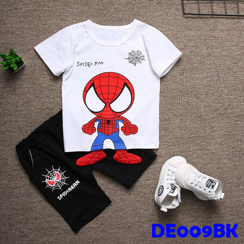 (DE009BK) Set- Spiderman Set Black