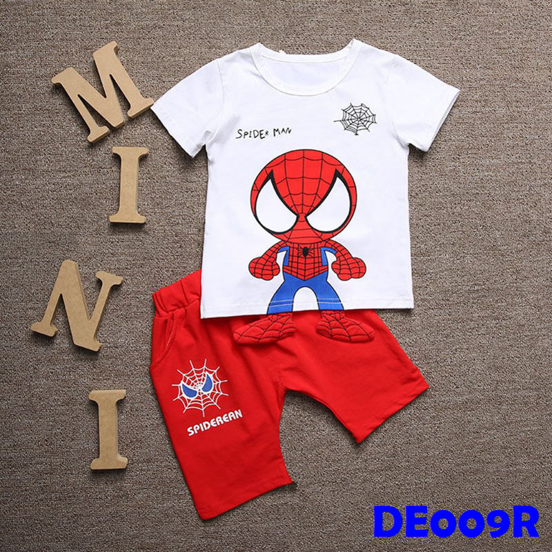 (DE009R) Set- Spiderman Set Red