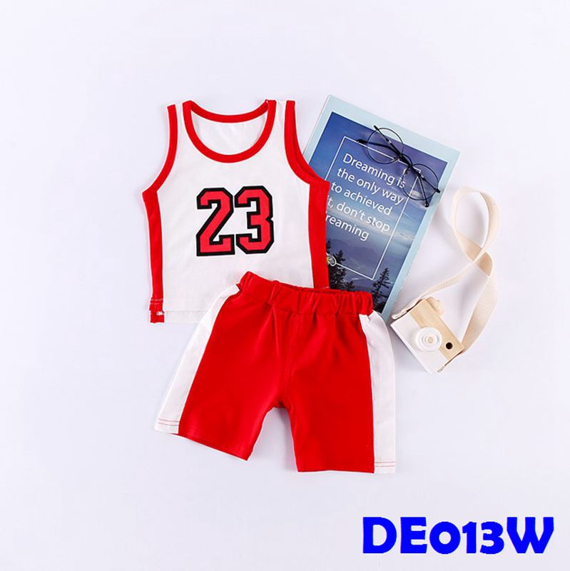 (DE013W) Basketball Tee - 23 White