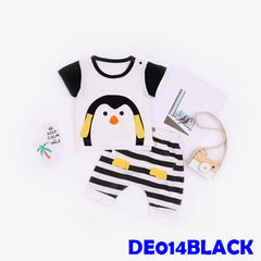 (DE014BLACK) Boy set - Penguin Black