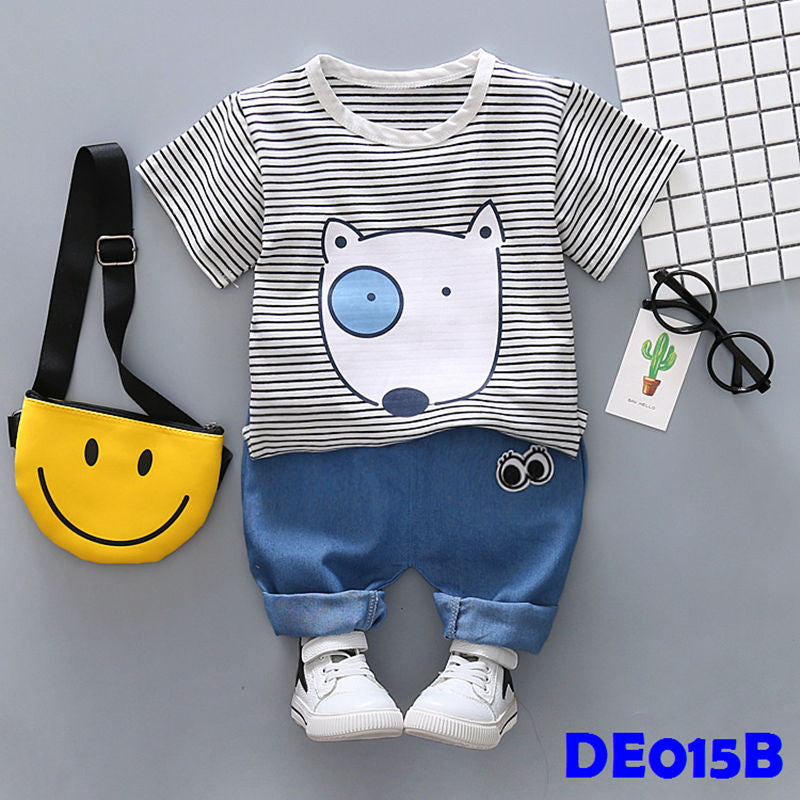 (DE015B) Set - Doggie (Black)