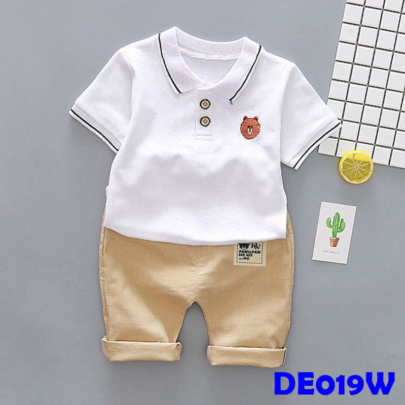 (DE019W) Set - Brown (White)