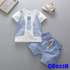 (DE022B) Boy set - Blue