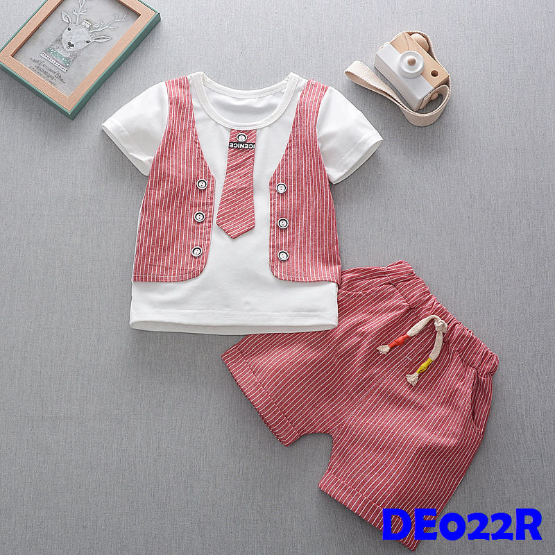 (DE022R) Boy set - Red