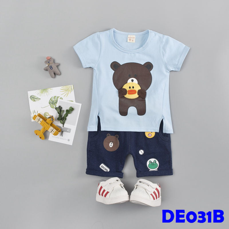 (DE031B) Set - Bear (Blue)