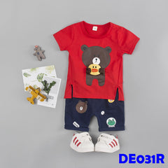 (DE031R) Set - Bear (Red)