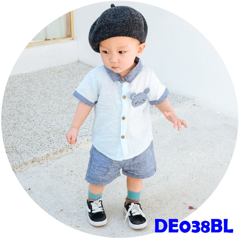 (DE038BL) Boy set - Blue