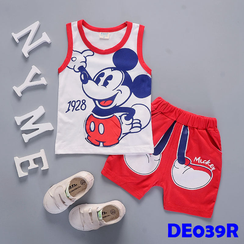 (DE039R) Set - Mickey (Red)
