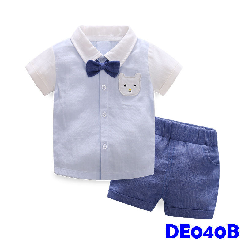 (DE040B) Boy set - Blue