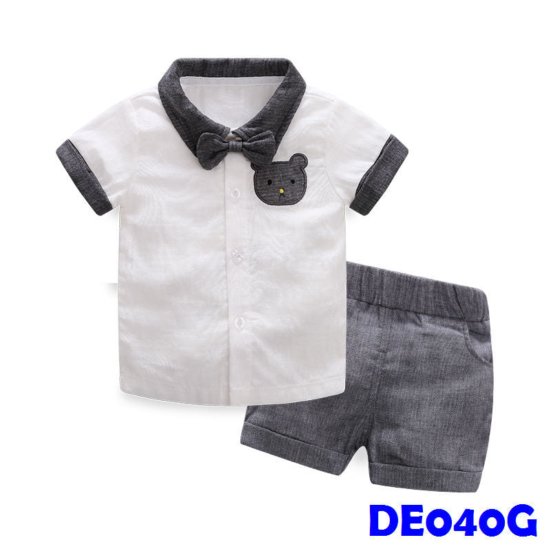 (DE040G) Boy set - Grey