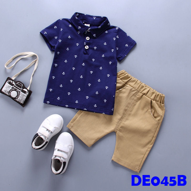 (DE045B) Boy set - Dark Blue