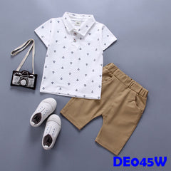 (DE045W) Boy set - White