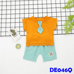(DE046Q) Boy set - Tie - Orange