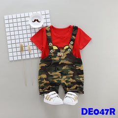 (DE047R) Boy set - Red
