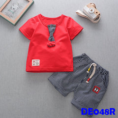 (DE048R) Boy set - Red