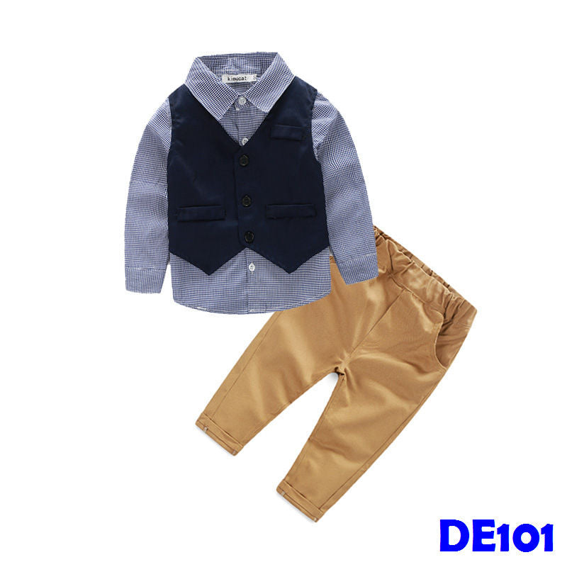 (DE101) Boy Clothings with Vest