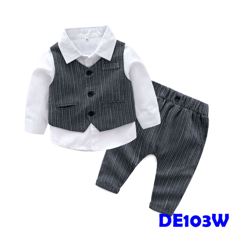 (DE103W) Gentleman Set - White