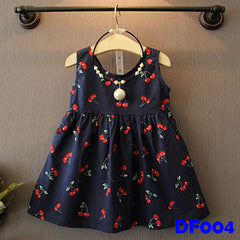 (DF004) Girl Dress - Cherry