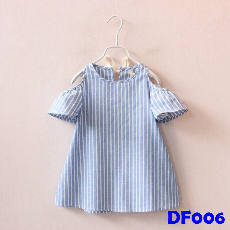 (DF006) Girl Dress - Blue