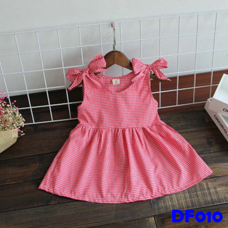 (DF010) Girl Dress - Boxed Red