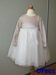 (DF802) Princess Dress - Champaign Gold