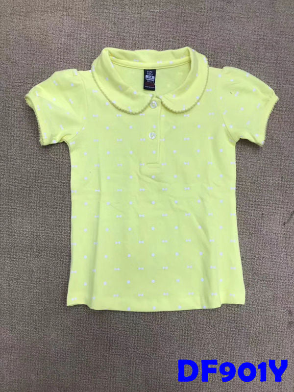(DF901Y) Girl Polo Shirt - Yellow
