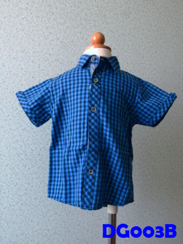 (DG003B) Boy Shirt - Boxed (Blue)