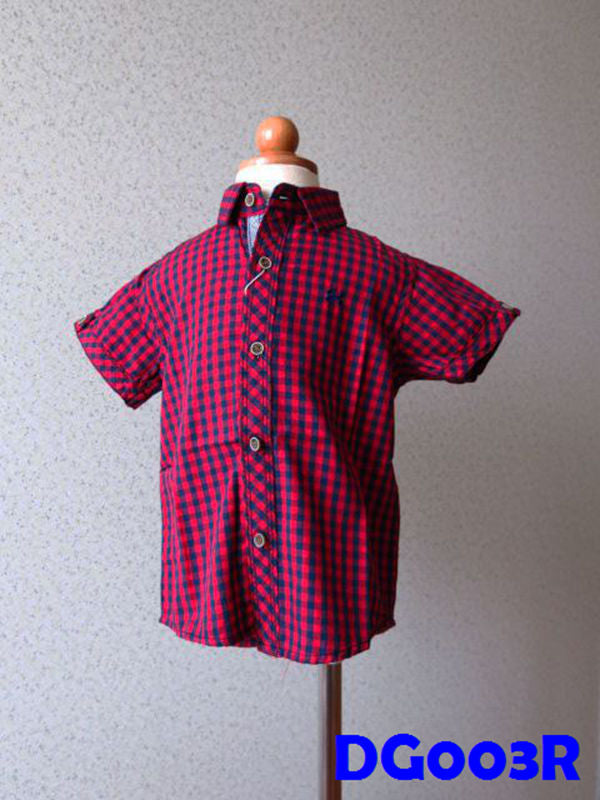 (DG003R) Boy Shirt - Boxed (Red)