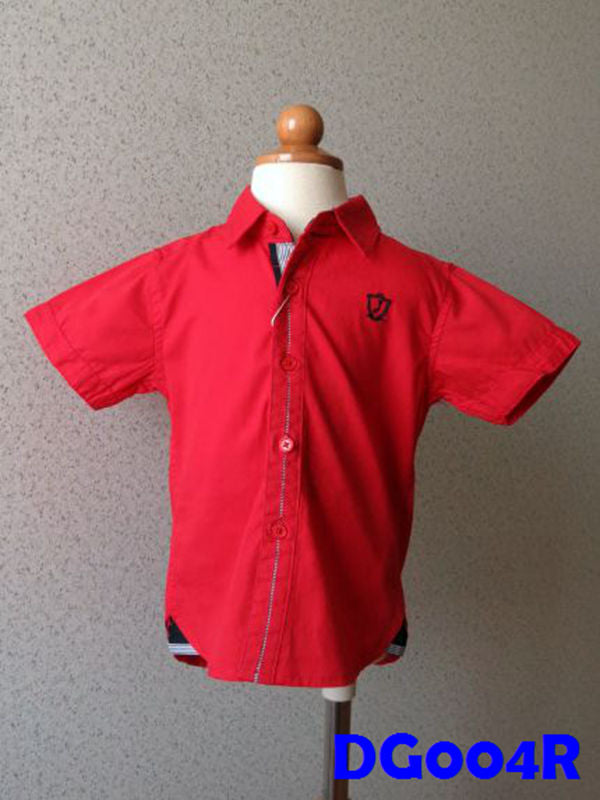 (DG004R) Boy Shirt - Red