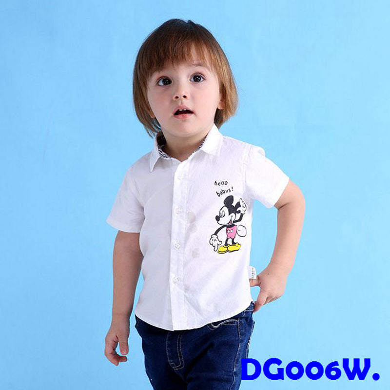 (DG006W) Shirt - Mickey White