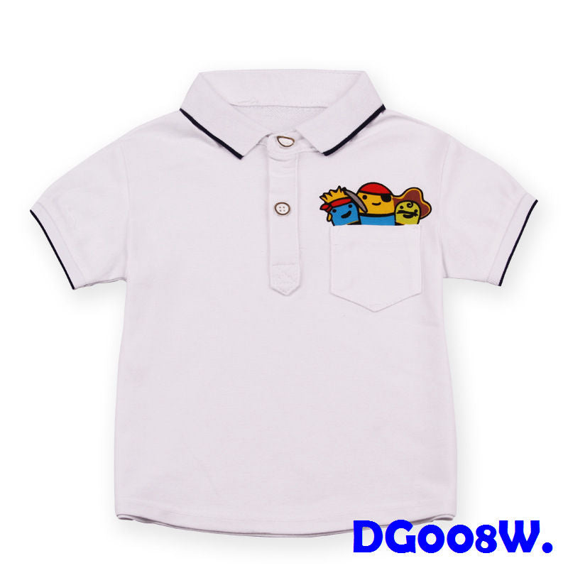 (DG008W) Polo Shirt - White