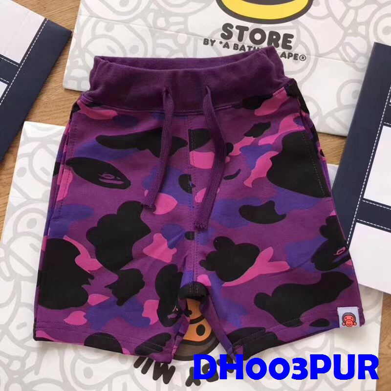 (DH003PUR) Boy Pants - Camo Print Purple
