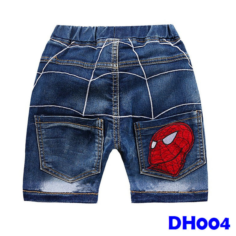 (DH004) Short Pants Jeans - Spiderman