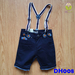 (DH008) Kid Pants with Suspender - Black