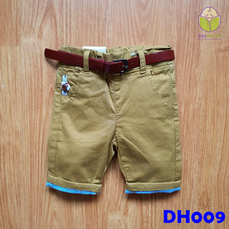 (DH009) Kid Pants with Belt - Brown