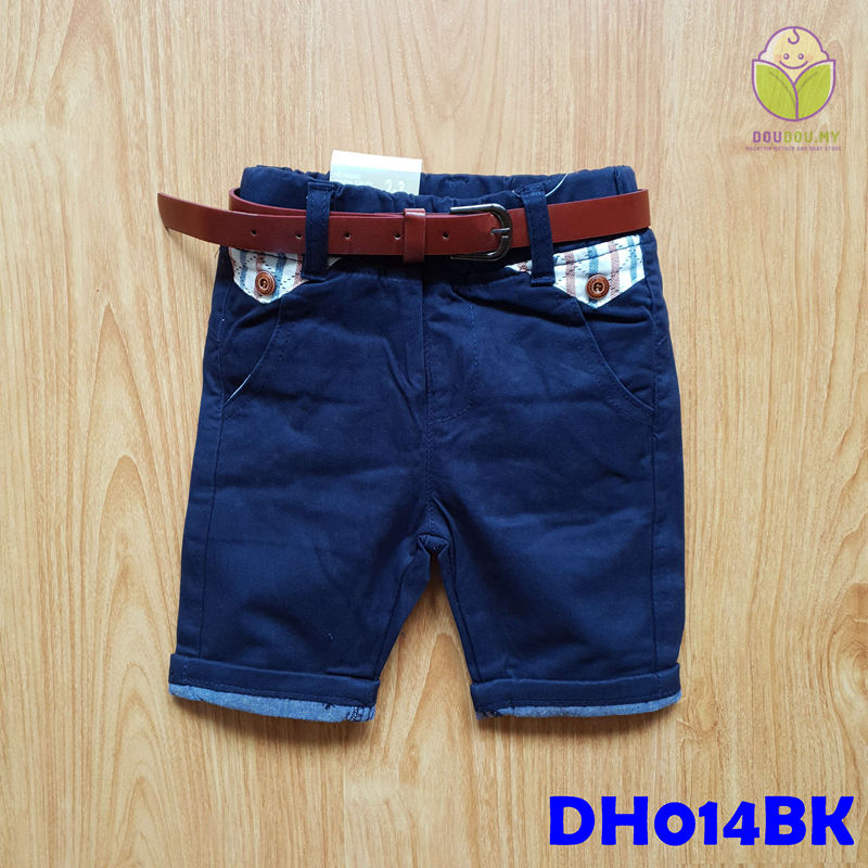 (DH014BK) Kid Pants with Belt - Black