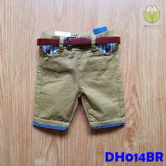 (DH014BR) Kid Pants with Belt - Brown