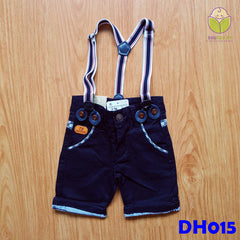 (DH015) Kid Pants with Suspender - Black