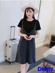 (DM117) Maternity Dress Set - Short sleeve