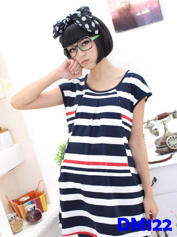 (DM122) Maternity Dress - Stripes